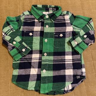 ベビーギャップ(babyGAP)の美品★フランネルチェックシャツ(シャツ/カットソー)