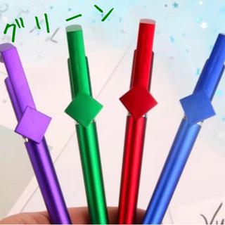 ★タッチペン付き スマホスタンド メタリックグリーン 新品★(その他)