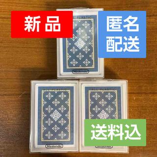 ニンテンドウ(任天堂)の新品未開封 3セット 任天堂 トランプ ナップ622 藍 TRP-N0622B(トランプ/UNO)