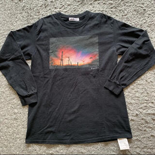 ビューティアンドユースユナイテッドアローズ(BEAUTY&YOUTH UNITED ARROWS)のidillico フォトプリント長袖Tシャツ❤️ブラック(Tシャツ(長袖/七分))