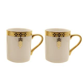 ティファニー(Tiffany & Co.)のティファニー  グラス  ゴールドインペリアル ペアマグカップ   ホワ(グラス/カップ)