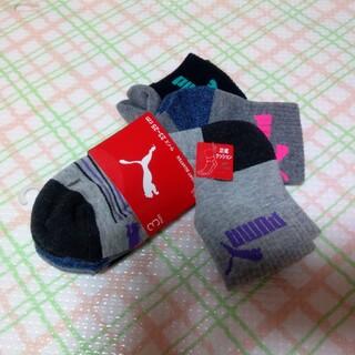 プーマ(PUMA)のタグ付き 新品 PUMA プーマ 靴下3足 色違い 23~25 足底クッション (ソックス)