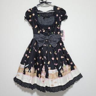 Angelic Pretty - お菓子の国ワンピースセット 黒