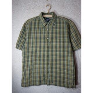 ギャップ(GAP)のo3726 GAP ギャップ 大きめ 半袖 チェック コットン シャツ(シャツ)