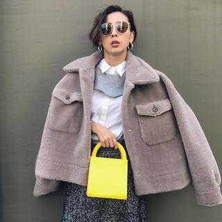 Ameri VINTAGE - AMERI アメリ over size eco mouton coat