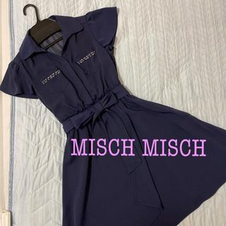MISCH MASCH - ミッシュマッシュ ワンピース ネイビー 襟付き
