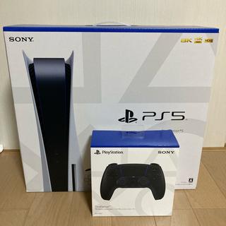 SONY - 新品 PlayStation5 ディスクドライブ搭載+コントローラー Black