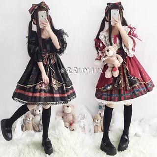 Ⓜ️貴族お嬢様風 ゴスロリフリル チュールAライン 中世ヨーロッパ トランプ模様(衣装一式)