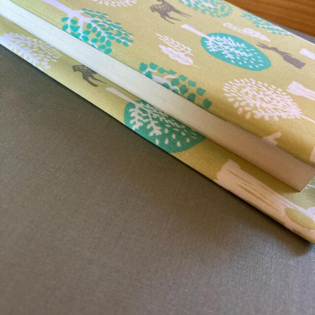 ハンドメイド@北欧風ブックカバー文庫本サイズ鹿とうさぎ ハンドメイドの文具/ステーショナリー(ブックカバー)の商品写真