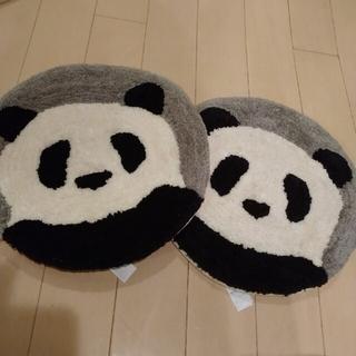 MUJI (無印良品) - 無印良品 カポックを中わたに使った シートクッションジャイアントパンダ  2枚