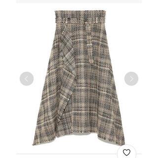 ミラオーウェン(Mila Owen)のミラオーウェン ツイードヘムラインスカート(ロングスカート)