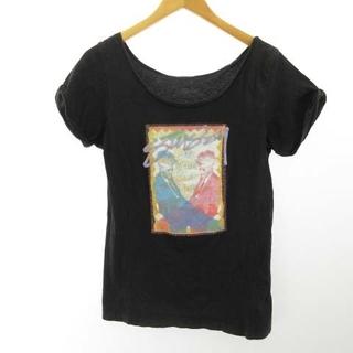 ステューシー(STUSSY)のステューシー STUSSY Tシャツ カットソー 黒 ブラック M(Tシャツ(長袖/七分))