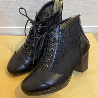 アクシーズファム(axes femme)のアクシーズファム レース ショートブーツ(ブーツ)