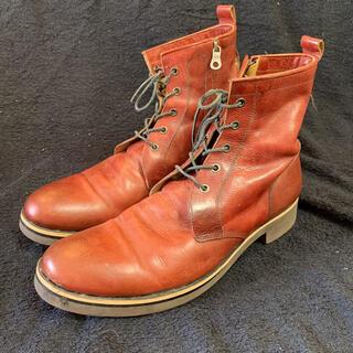 glamb - glamb グラム ブーツ レッド 革靴 サイドジップ