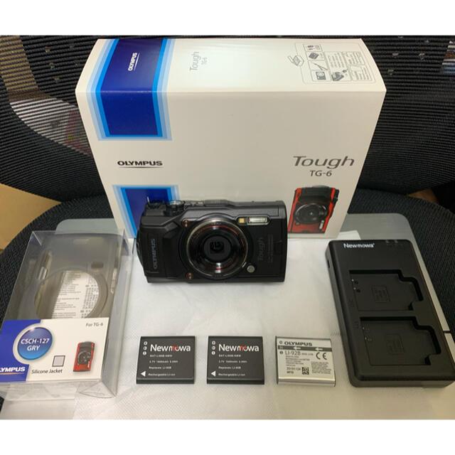 OLYMPUS(オリンパス)のオリンパス Tough TG-6 デジカメ ブラック シリコンカバーセット スマホ/家電/カメラのカメラ(コンパクトデジタルカメラ)の商品写真