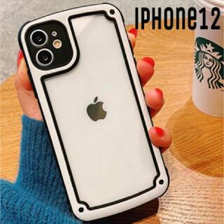 シンプル フレーム iPhoneケース iPhone12 モノトーン