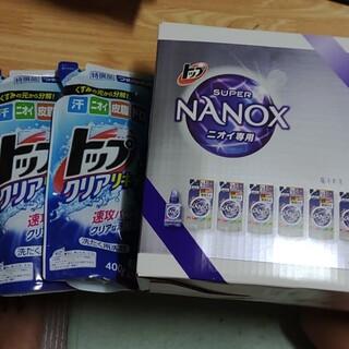 トップスーパーナノックスニオイ専用ギフトセット+トップクリアリキッド詰替2袋(洗剤/柔軟剤)