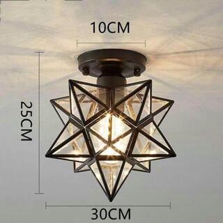 ペンダントライト レトロ 星形 星型 キッチン 北欧 天井照明(天井照明)