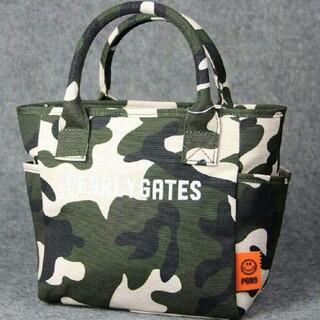 パーリーゲイツ(PEARLY GATES)の美品 メンズ ゴルフ キャンバス バッグトートバックグリーン(バッグ)