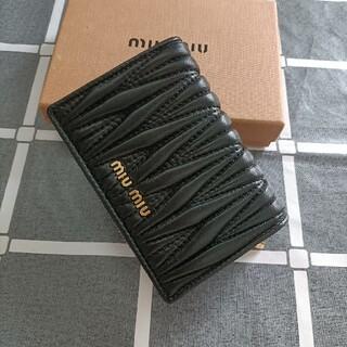 miumiu - ☆即納☆ミュウミュウ 折り財布 コインケース ブラック