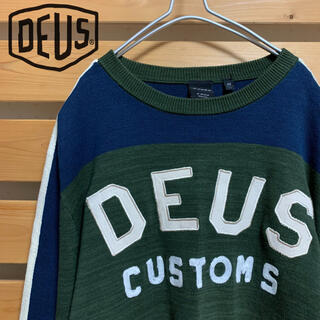 デウスエクスマキナ(Deus ex Machina)のDEUS ex Machina ニット セーター グリーン アースカラー 古着(ニット/セーター)