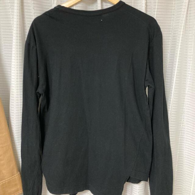 COMME des GARCONS(コムデギャルソン)の希少 完売 CDG  長袖 ロングスリーブ 変形 カットソー ワンポイントロゴ メンズのトップス(Tシャツ/カットソー(七分/長袖))の商品写真