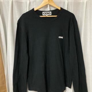 コムデギャルソン(COMME des GARCONS)の希少 完売 CDG  長袖 ロングスリーブ 変形 カットソー ワンポイントロゴ(Tシャツ/カットソー(七分/長袖))