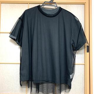 レイジブルー(RAGEBLUE)のRAGEBLUE レイジブルー シアーレイヤード Tシャツ F ブラック 黒(Tシャツ(半袖/袖なし))