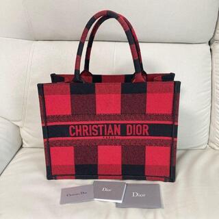 クリスチャンディオール(Christian Dior)のクリスチャンディオール チェック柄 ブックトート トートバッグ(トートバッグ)