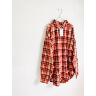 アングリッド(Ungrid)の新品 ungrid チェックビッグシャツ オーバーサイズシャツ ネルシャツ(シャツ/ブラウス(長袖/七分))