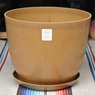 エコフォームズ自然素材のエコ植木鉢【10号ポット&ソーサーセット】ナチュラル(プランター)