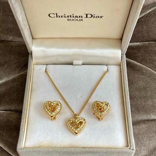 Christian Dior - 美品✨クリスチャンディオール ❤️ヴィンテージ ネックレス & イヤリングセット