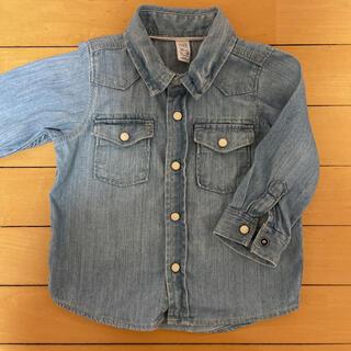 ベビーギャップ(babyGAP)のbaby GAP デニムシャツ サイズ80(シャツ/カットソー)