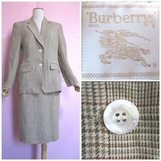 バーバリー(BURBERRY)の【バーバリー】スカートスーツ☆ヴィンテージ☆ジャケット・スカート(スーツ)