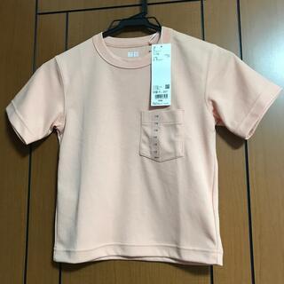 ユニクロ(UNIQLO)のユニクロのエアリズムコットンTシャツ キッズ110センチ(その他)