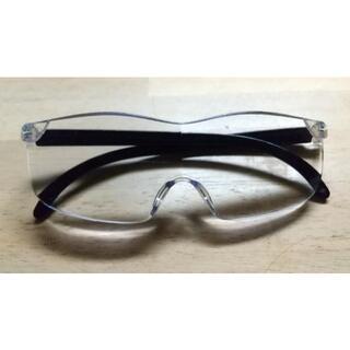 メガネ型ルーペ ブルーライトカット 男女兼用 眼鏡型ルーペ 拡大鏡 2.0倍