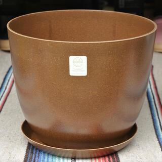 エコフォームズ自然素材のエコ植木鉢【10号ポット&ソーサーセット】モカ(プランター)