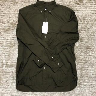 BEAMS - 【未使用品】定価11000円 BEAMS カーキシャツ コットン Lサイズ