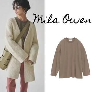 Mila Owen - Mila Owen サイドスリットビッグロンTee