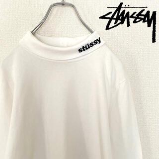 ステューシー(STUSSY)の【美品!】ステューシー 刺繍ロゴ タートルネック(Tシャツ/カットソー(七分/長袖))