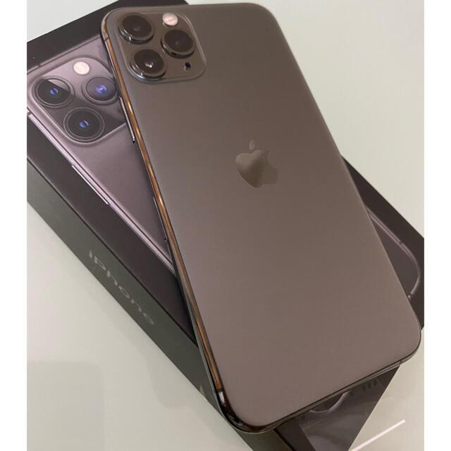 Apple(アップル)のiPhone11 Pro 本体 スペースグレイ 64GB スマホ/家電/カメラのスマートフォン/携帯電話(スマートフォン本体)の商品写真