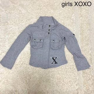 キスキス(XOXO)のgirls XOXO パーカー グレー キッズ 150センチ(ジャケット/上着)