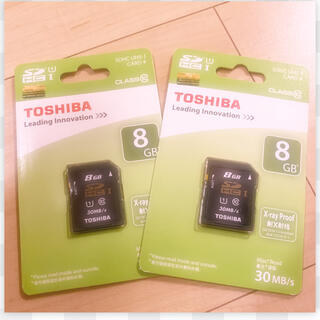 トウシバ(東芝)のTOSHIBA製 SDカード【8GB】2点セット!!(その他)