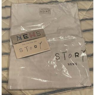 NEWS - NEWS LIVE TOUR グッズ☆Tシャツ ステッカー セット