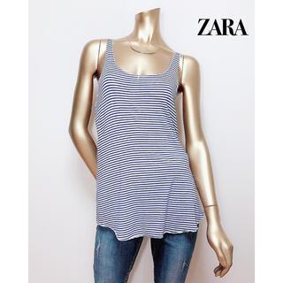 ZARA - ZARA ボーダー タンクトップ カットソーベルシュカ H&M SLY