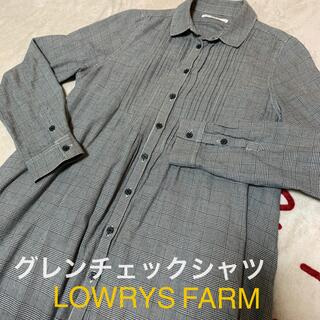 LOWRYS FARM - LOWRYS FARM グレンチェックシャツ 長め 長袖 ローリーズファーム