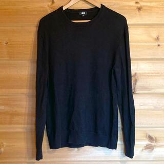 UNIQLO - スーピマコットンクルーネックセーター 09BLACK  XL