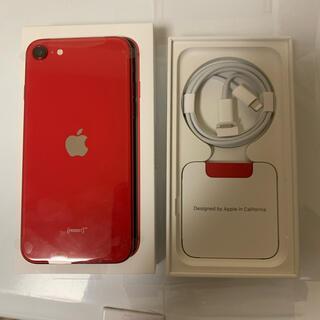 アイフォーン(iPhone)のiPhone SE 第2世代 (SE2) レッド 128 GB SIMフリー(スマートフォン本体)