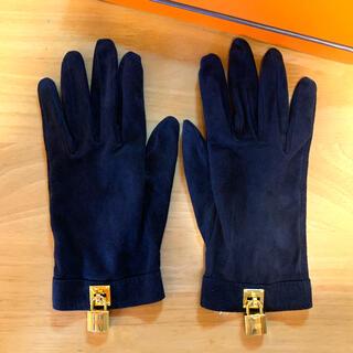 エルメス(Hermes)の美品 HERMESグローブ 黒(手袋)