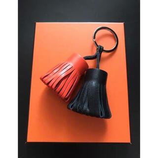 ハロウィン カラー 高品質 本革 羊革 タッセル バックチャーム キーホルダー